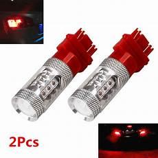 Strobe Stop Light 2x 3157 Red Flash Strobe Blinking Rear Alert Safety Light