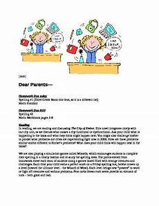 Examples Of Newsletters For Parents From Teachers Parent Newsletter Sample Amp Template By A State Of Wonder