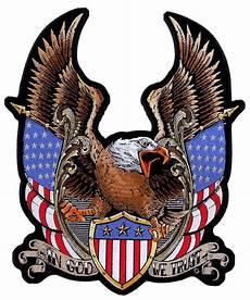 Allen Eagle Designs Patriotic Eagle American Flags In God We Trust