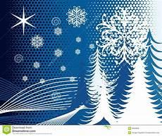 Blue Tree Design Blue Winter Tree Snow Design Stock Vector Illustration