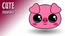 Cute Drawlings How To Draw A Cute Pig Face Youtube