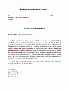 Appreciation Letter To Employees Employee Appreciation Letter Sample