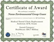 Template Of Award Certificate Certificate Award Certificates Templates Free
