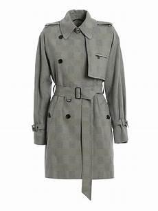 coats aloe wonens max mara aloe prince of wales patterned trench trench