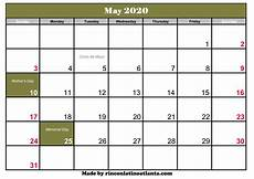 2020 Calendar Canada May 2020 Calendar With Holiday Calendar Template Printable