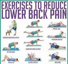 Lower Back Stretches Chart Pin On Back