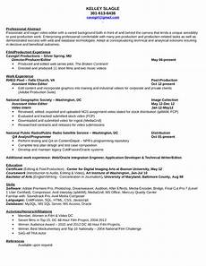 Video Editing Resume Professional Video Editor Resume Template