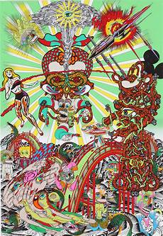 Arts And Designs Of Japan Psychedelic Paintings By Japanese Artist Keiichi Tanaami