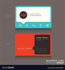 Trendy Business Cards Modern Trendy Business Card Design Royalty Free Vector Image