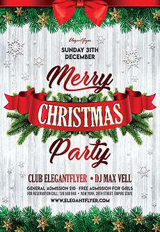 Work Christmas Party Flyer Christmas Party 2017 Free Flyer Psd Template By