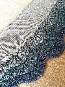 stricken lace sea of shells crescent lace shawl knitting pattern pdf 3