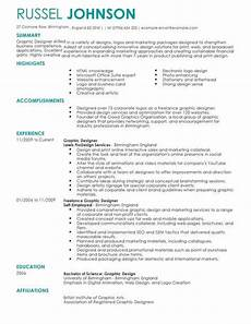 Cv Sample For Graphic Designer Marketing Graphic Designer Cv Template Cv Samples Amp Examples