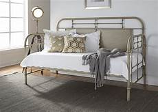 vintage distressed metal day bed vintage white