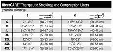 Jobst Compression Measuring Chart Jobst Ulcercare 2 Part System Knee High W Liner 40 Mmhg