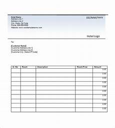 Hotel Bill Template Hotel Invoice Template 19 Free Word Excel Pdf Format