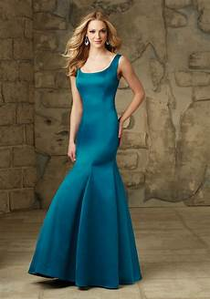 chic and simple satin bridesmaid dress style 104 morilee