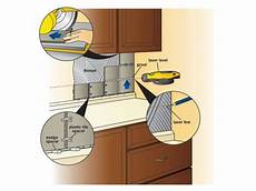 installing backsplash tile in kitchen how to install a tile backsplash how tos diy