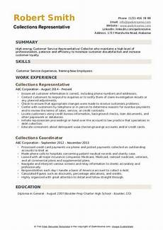 Collection Resume Examples Collections Representative Resume Samples Qwikresume