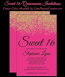 Pink Party Invitations Pink Amp Gold Faux Glitter Sparkle Sweet 16 Birthday Party