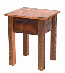 teton barnwood 1 drawer nightstand end table rustic