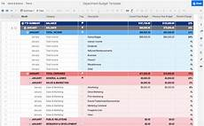 Department Budget Template Free Budget Templates In Excel Smartsheet