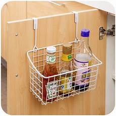 creative metal door storage basket practical kitchen