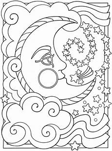 free printable moon coloring pages for best