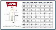 Levis Size Chart Details Denim Sizes In 2020 With Images Jeans Size