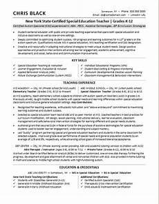 Writing A Teaching Resume Teacher Resume Sample Monster Com