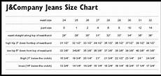 Simpson Jean Size Chart J Amp Company Jeans Size Chart Jeans Hub