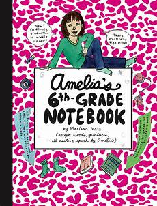 Gradebook Cover Amelia S 6th Grade Notebook Book By Marissa Moss