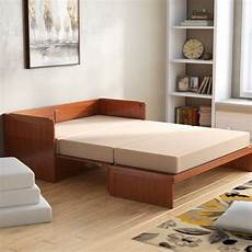 canora grey barham cube murphy bed with mattress
