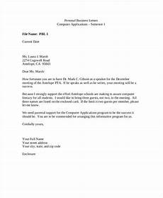 Sample Of Marketing Letters To Business Personal Business Letter