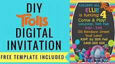 Free Digital Birthday Invitations Free Trolls Digital Invitation How To Make With