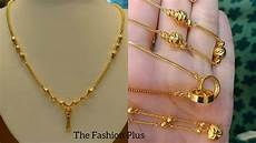 Chain Design Pattern In Gold For Ladies Light Weight Gold Chain Necklaces Designs For Daily Wear