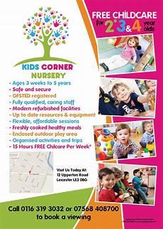 Child Care Flyer Design The Back Of An A5 Flyer Designed For Kids Corner Nursery