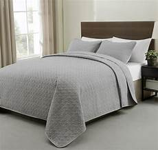 allyson 3 quilted coverlet bedspread set grey color