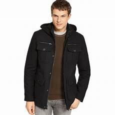 guess winter coats dane guess coats style hooded pea coat in black for