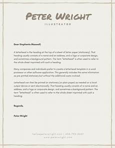 Examples Of Personal Letterhead Letterhead Templates Canva