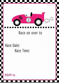 Free Printable Race Car Birthday Invitations Free Printable Race Car Birthday Party Invitations