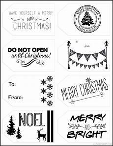 Christmas Labels Black And White Printable Christmas Gift Tags