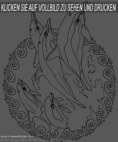 ausmalbilder mandala delfin imagui