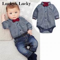 newborn boy dress clothes 2pcs set newborn baby boy clothes gentleman grey rompers