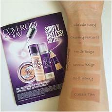Covergirl Simply Ageless Foundation Color Chart Covergirl Olay Simply Ageless 3 In 1 Liquid Foundation