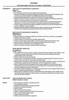 Resume For Food Industry 12 Sample Resumes Food Service Radaircars Com