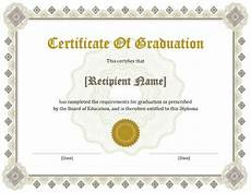 Graduation Certificate Sample Personalize 124 Free Certificate Templates Download Hloom