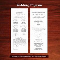 Catholic Wedding Mass Program Free Diy Catholic Wedding Program Ai Template I M A