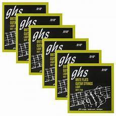 Light Gauge Flatwound Guitar Strings 6 Sets Of Ghs 710 Brite Flats Flatwound Light Electric