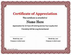 Years Of Service Certificate 30 Free Certificate Of Appreciation Templates And Letters