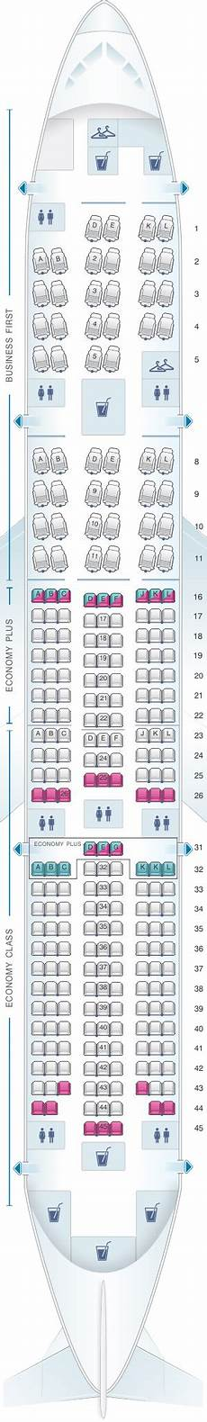 United Airlines Seating Chart 777 International Seat Map United Airlines Boeing B777 200 777 Version 2